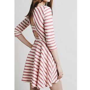 Free People Fit and Flare Candyland Stripe Dress
